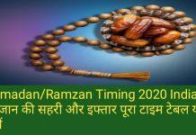 Ramadan/Ramzan Timing:रमजान की सहरी और इफ्तार पूरा टाइम टेबल यहां देखें